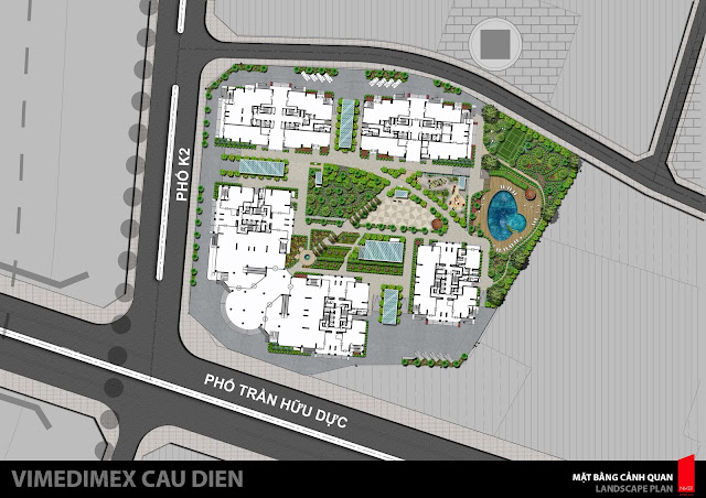 Mặt bằng quy mô phân khu toàn dự án IRIS GARDEN