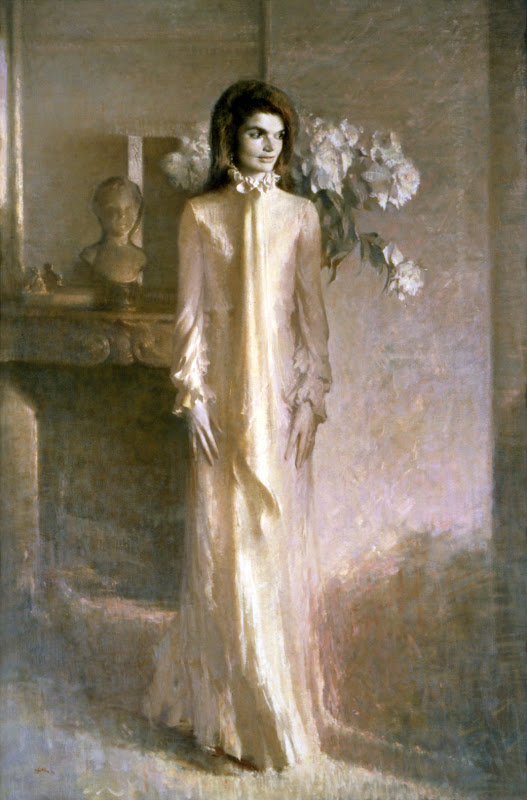 Portrait of Jacqueline Kennedy, Aaron Shikler, International Art Gallery, Self Portrait, Art Gallery, Portraits of Painters, Fine arts, Self-Portraits, Painter  Aaron Shikler
