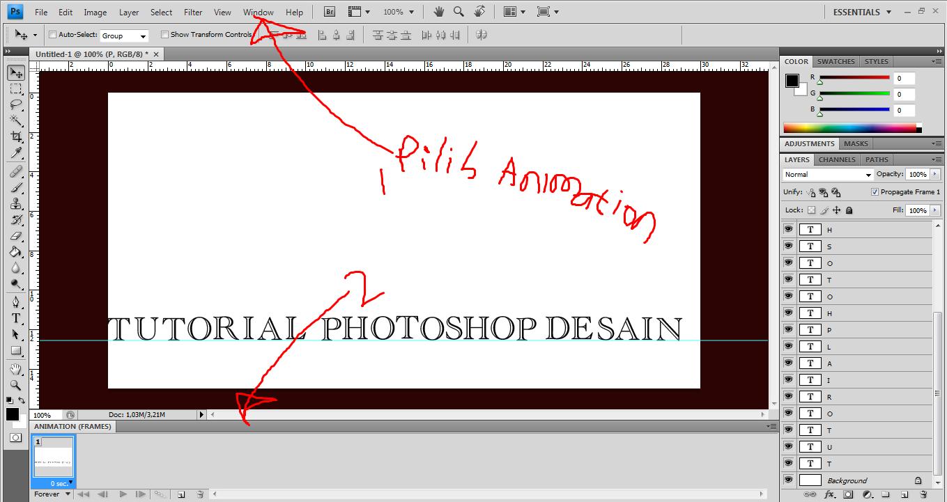 Tutorial Photoshop Cara Membuat Dp Bbm Bergerak Dengan Photoshop