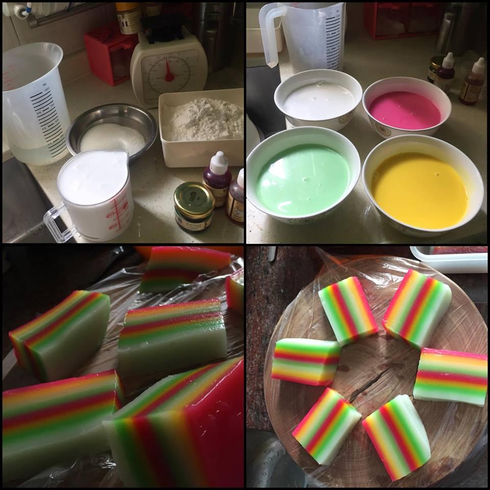 Resep membuat Kue lapis Pelangi