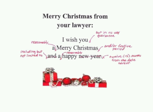 Use Your Blinker Christmas Card From A Lawyer