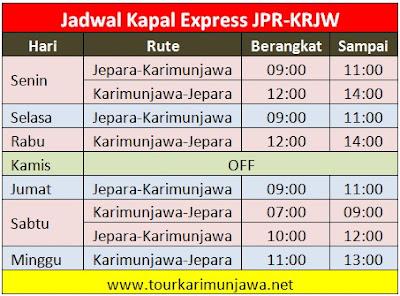jadwal kapal express terbaru