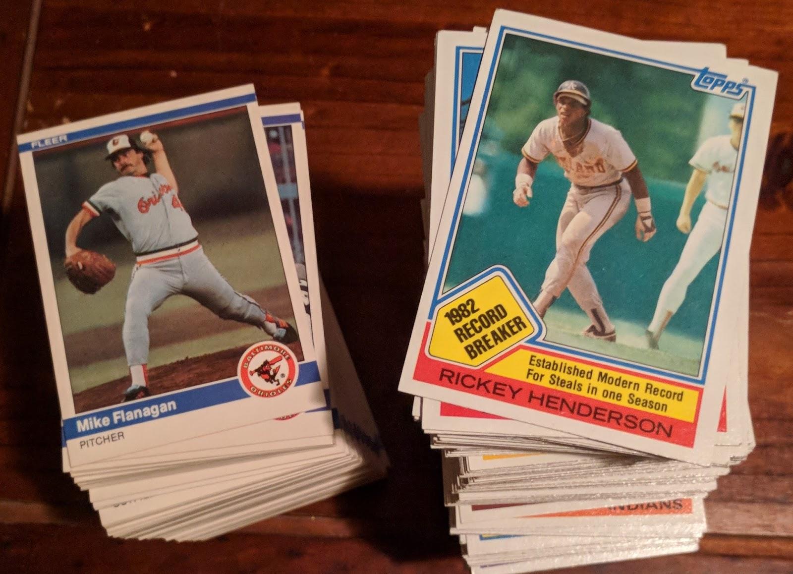 Baseball Card Breakdown 1984 Fleer And 1983 Topps Wantlists