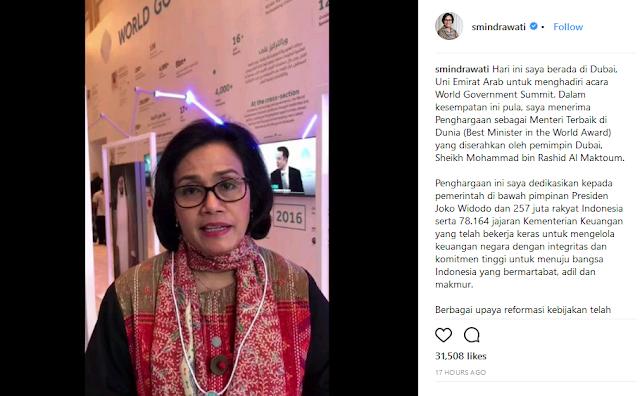 Jadi Menteri Terbaik Dunia, Sri Mulyani Dedikasikan untuk Presiden Jokowi dan 257 Juta Rakyat Indonesia - Info Presiden Jokowi Dan Pemerintah