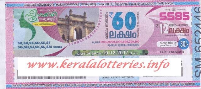 STHREE SAKTHI (SS-85) Kerala lottery result