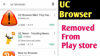 UC BROWSER Removed From Play Store Latest News