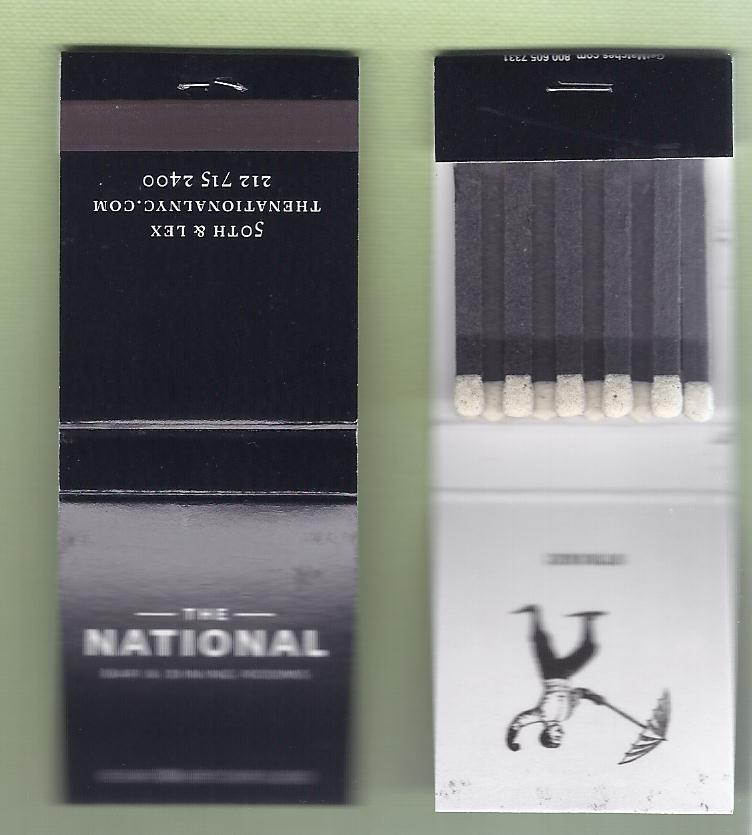 The National Bar And Dining Rooms: Matchbook Collection And More