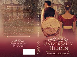 Book cover: A Lie Universally Hidden by Anngela Schroeder