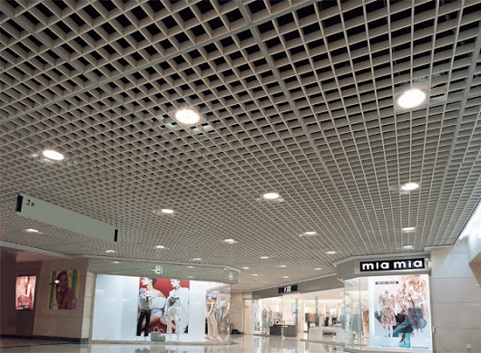 The Newest Shopping Mall Open Cell Ceiling
