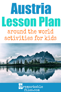 Building the perfect Austria lesson plan for your students? Are you studying Vienna or doing an around-the-world unit in your K-12 social studies classroom? Try these free and fun Austria activities, crafts, books, and free printables for teachers and educators! #austria #lessonplan #teaching #kids