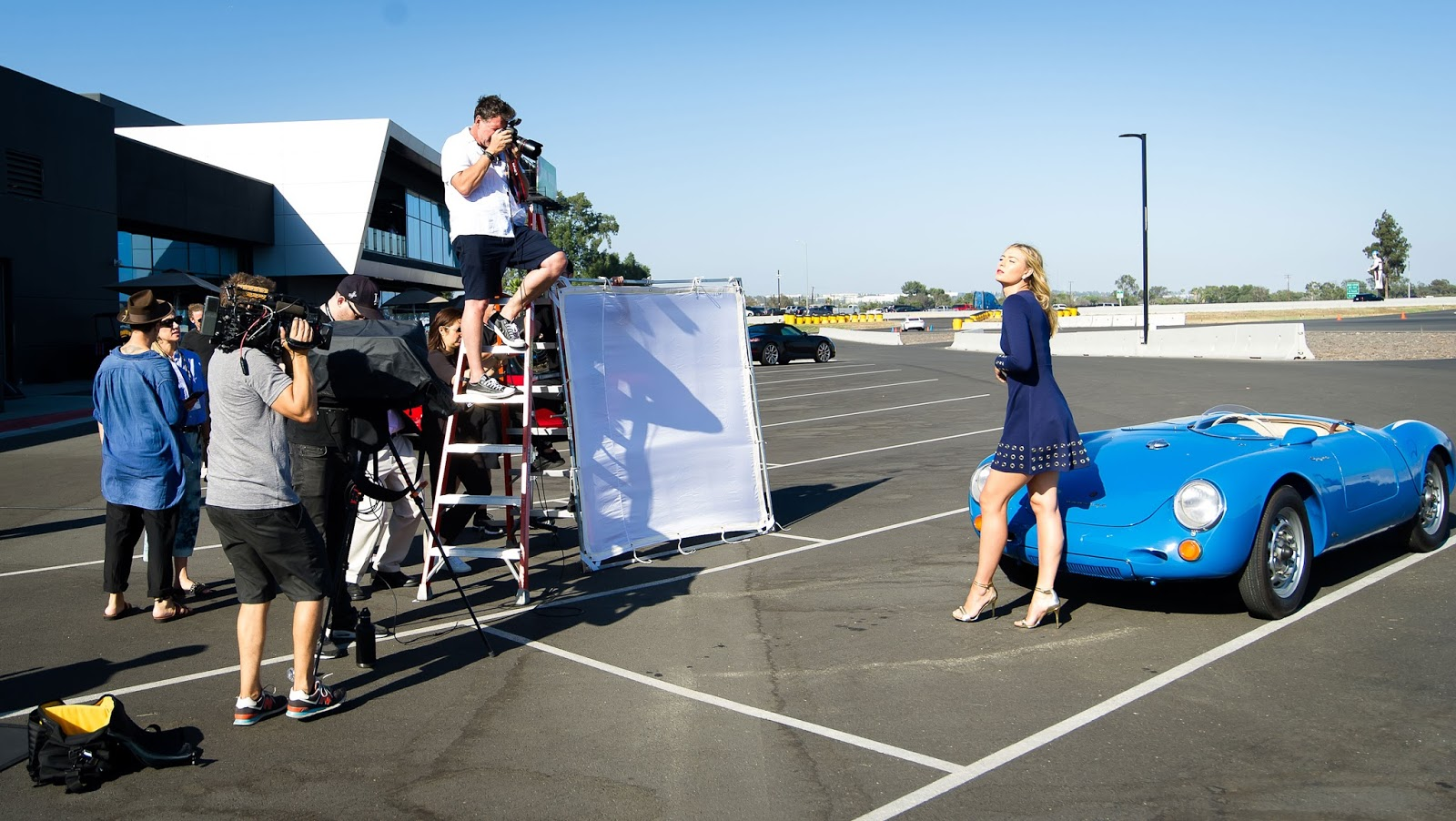 Photoshoot with Porsche brand ambassador Maria Sharapova