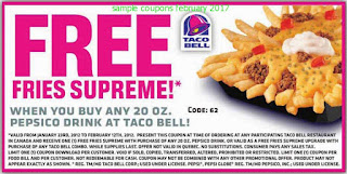 Taco Bell coupons february 2017