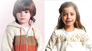 Campera y Vestido en dos agujas para niños / Moldes y paso a paso