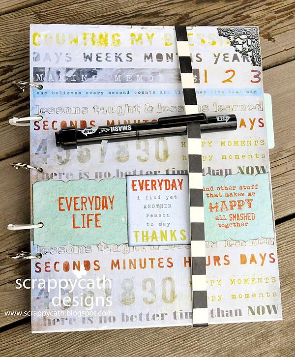 Book Cover Handmade Quotes : Scraps of life handmade smash book