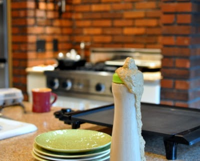 We use a Pancake Batter Squeeze Bottle to make pancake shapes. Just one more reason to Make Tonight #PancakeNight.