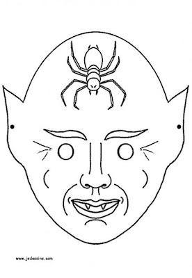 7 Máscaras de Halloween para imprimir e colorir