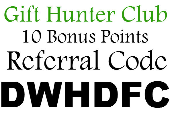 Gift Hunter Club Referral Code, 10 Points Gift Hunter Club Sign up Bonus, Gift Hunter Club Refer A Friend 2021