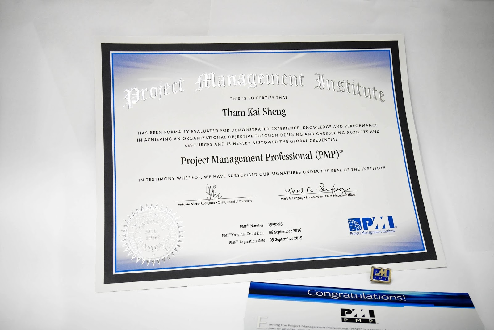 Project Management Professional Pmp Javin Tham