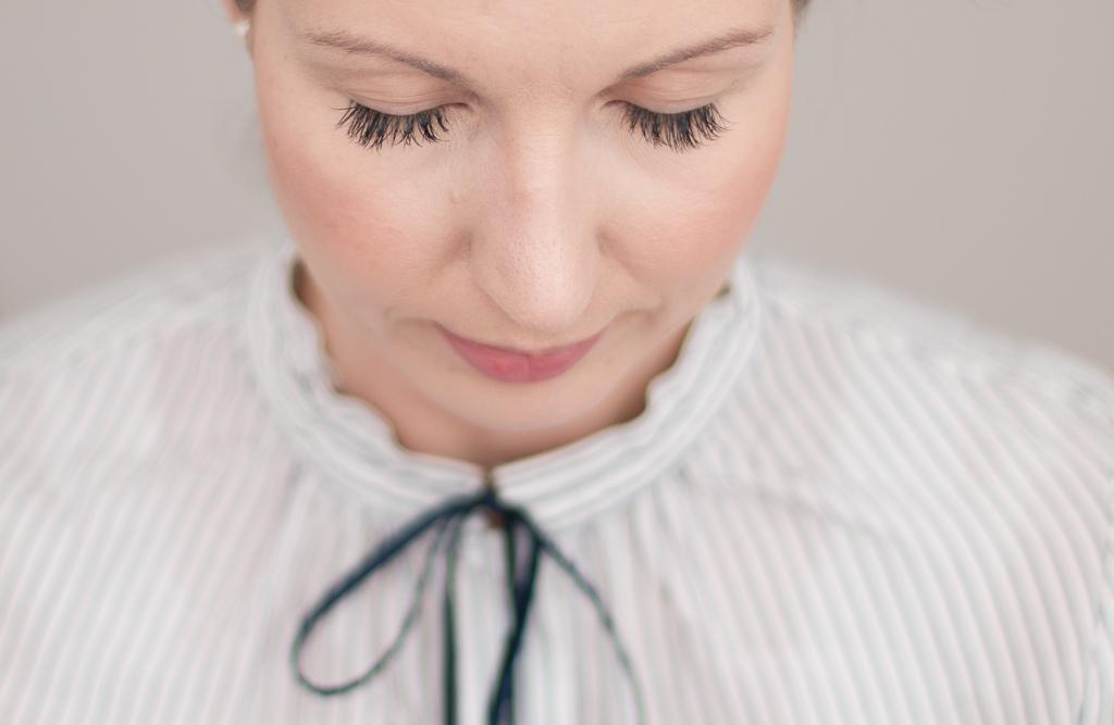 Wimpernverlaengerung Lash Extensions drei Wochen getragen