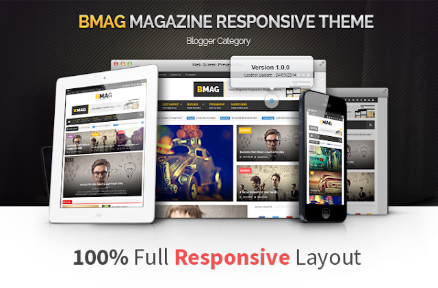 Free Download BMAG V2.0.3 - Magazine Responsive Blogger Template