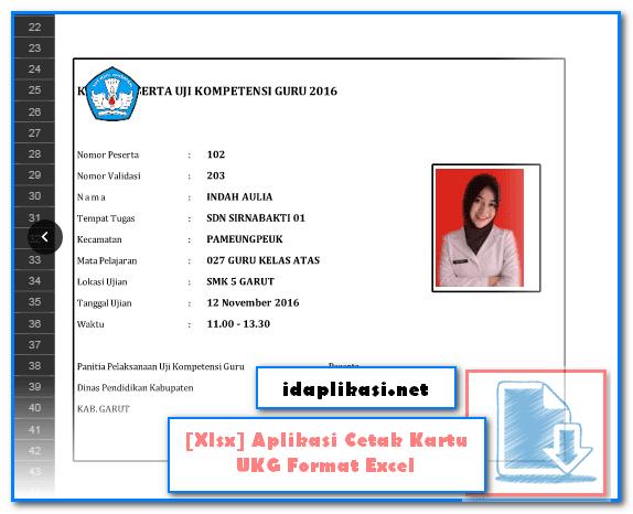 [Xlsx] Aplikasi Cetak Kartu UKG Format Excel