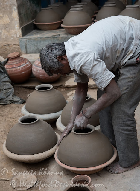 making of Earthen pots