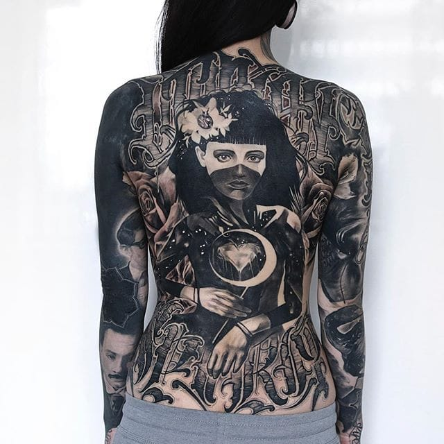 Watch Monami Frost's Back Tattoo Transformation