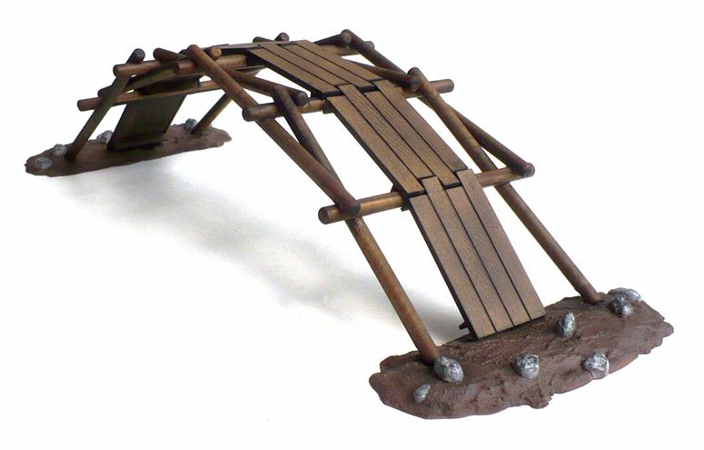 Leonardos Self Supporting Bridge