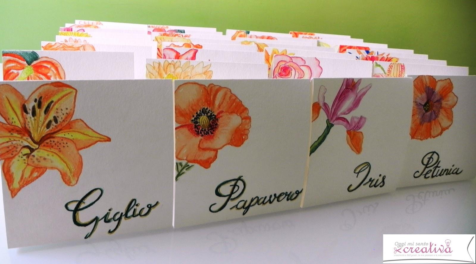 Molto Oggi mi sento creativa: Tableau mariage tema fiori-colore arancio DW95