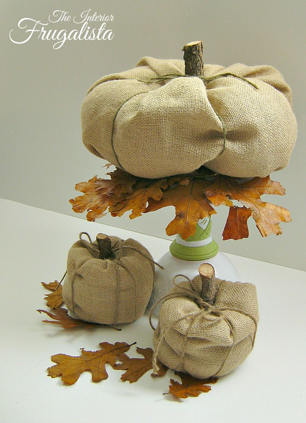 Budget Friendly DIY Pumpkin Idea with Burlap