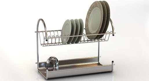 free 3d model dish rack