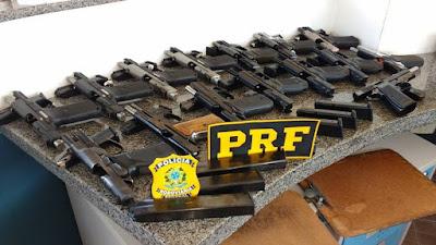 PRF apreende 15 pistolas na Régis Bittencourt em Barra do Turvo
