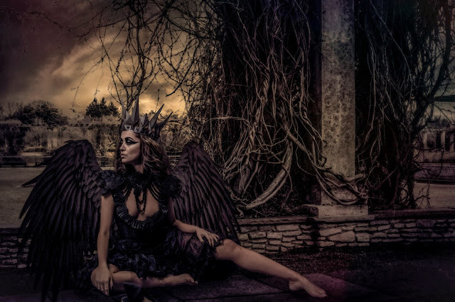 mystic magic, creative photos, inspiring images, black swan, crown, enchanted, magical, dark, gothic, photo, photography, gothic photography, dark beauty, fairytale, painting, wings,
