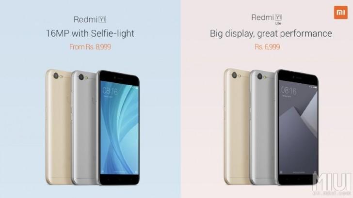 Xiaomi unveils two affordable smartphones, Redmi Y1 and Redmi Y1 Lite