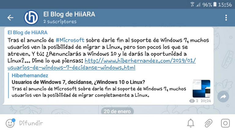 El Blog de HiiARA en Telegram