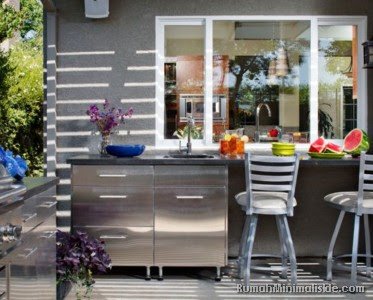 dapur outdoor untuk rumah type
