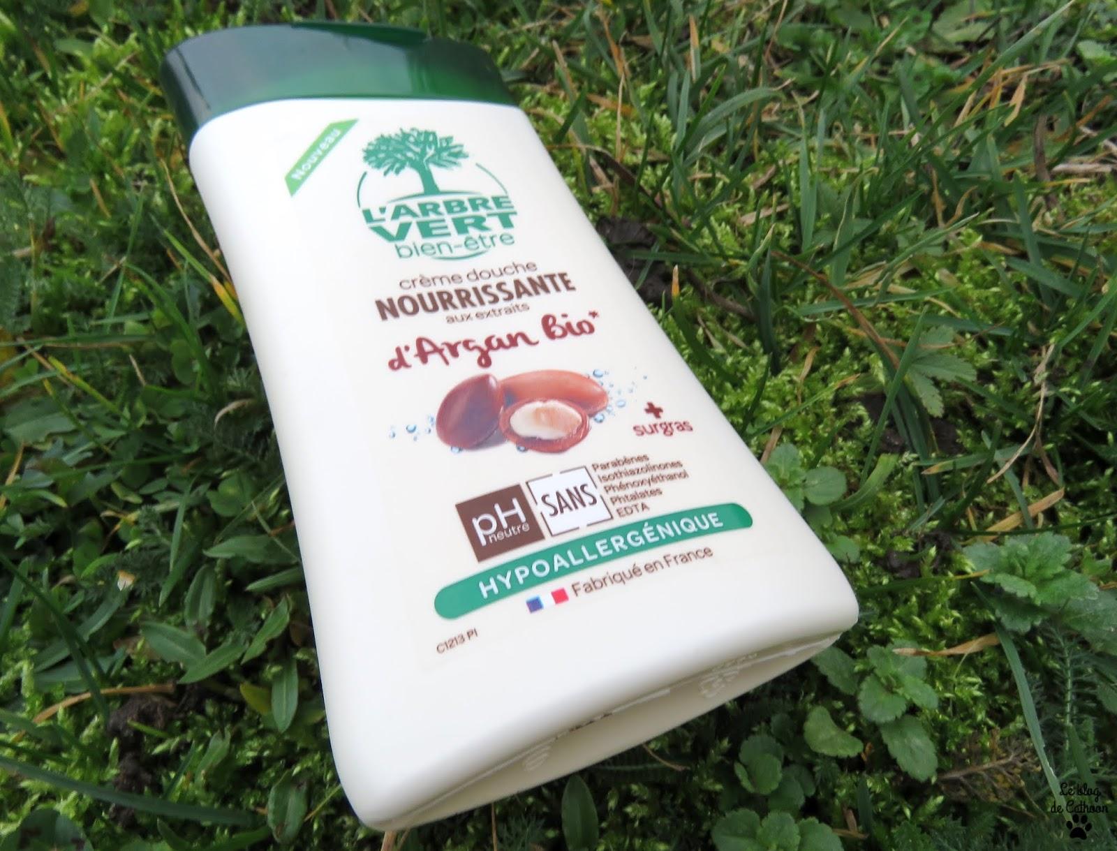 Crème Douche Nourrissante aux Extraits d'Argan Bio - L'Arbre Vert bien être
