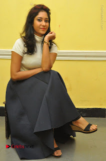 Telugu Actress Sindhu Affan Latest Pos in Black Skirt at Www.Meena Bazaar Movie Opening  0038.JPG