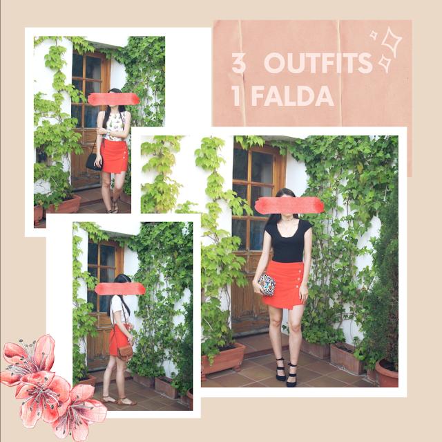 3 Outfits una falda