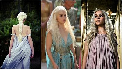İlk bölümlerde nazik ve masum görünümünü tamamlayan hafif kumaşlı, pastel tonlarında kıyafetler kullanılmış.