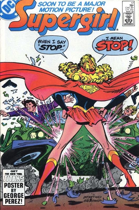 Supergirl #17 (1974):  Carmine Infantino cover, penciler  Dick Giordano cover, inker  Julius Schwartz editor  Paul Kupperberg writer  Todd Klein letterer  Tom Ziuko colorist