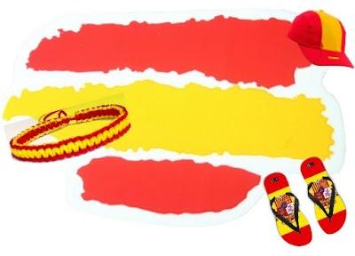 Hacer o comprar complementos rojigualda de España