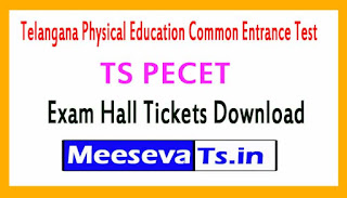 TS PECET Exam Hall Tickets Download 2017