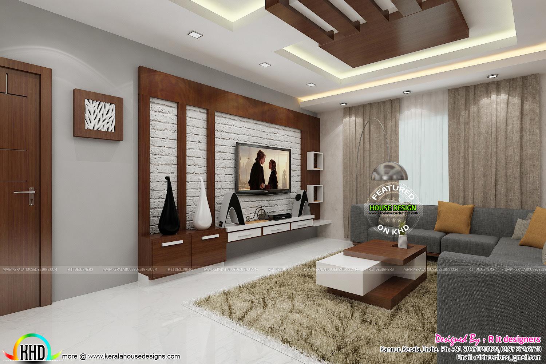 Posh Living Room Interior Kerala Home Design And Floor Plans
