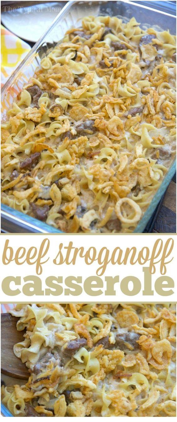 Easy Beef Stroganoff Casserole Recipe
