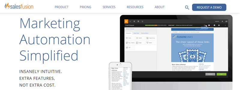 Salesfusion helps create campaigns, nurture leads and drive revenue