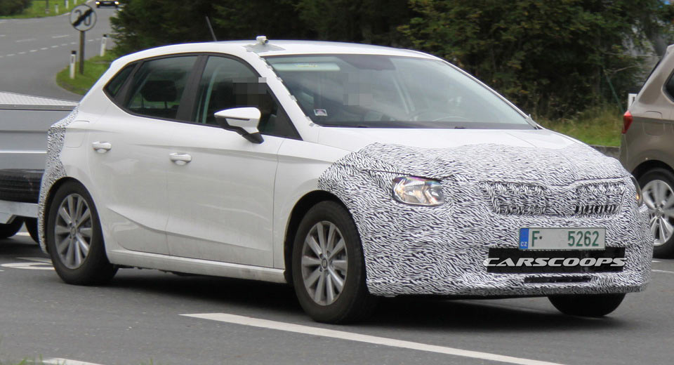 skoda test mule with a seat ibiza body probably hides next. Black Bedroom Furniture Sets. Home Design Ideas