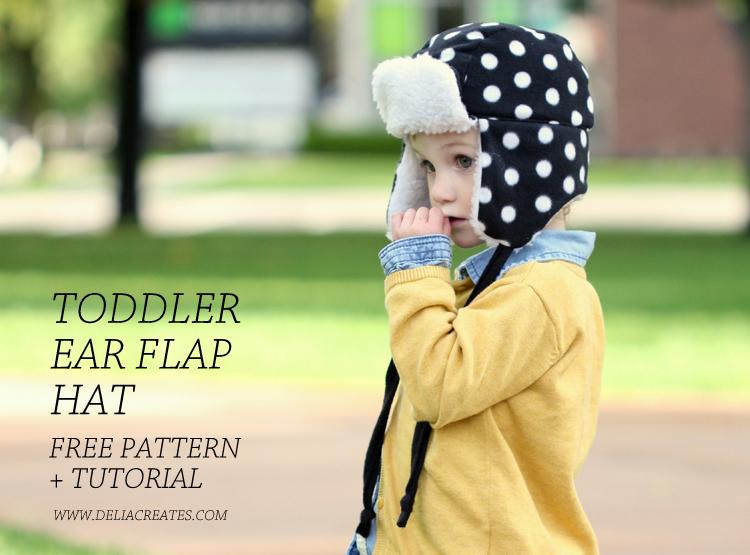 http://www.deliacreates.com/toddler-ear-flap-hat-free-pattern/