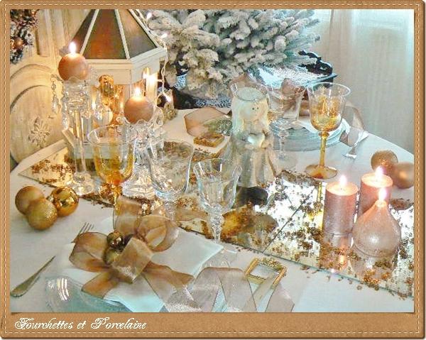 fourchettes et porcelaine table no l cuivre. Black Bedroom Furniture Sets. Home Design Ideas