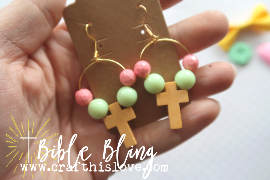 cross earrings by Bible Bling by Craft His Love